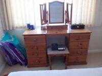 Dressing Table, Chest of draws, Desk, Mirror.