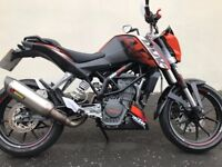2012 KTM DUKE 200 MINT BIKE MUST BE SEEN -EXTRAS-AKCRAPOVIC EXHAUST ETC FINANCE -£2399