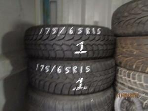 175/65R15 2 ONLY USED WINTER CLAW SNOW TIRES