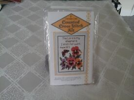 Cross Stitch Kit of the Lord is my Shepherd from Psalm 23