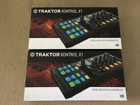 2x Native Instruments Traktor Kontrol X1 MK2 DJ Controller - Pair - Fully Boxed