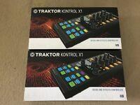 2x Native Instruments Traktor Kontrol X1 MK2 DJ Controller - Pair - Fully Boxed