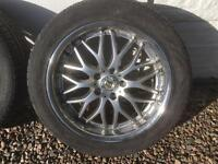 18 Inch Inovit Alloy Wheels with winter tyres VW AUDI 5 x 112