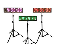 EU 5 6 digits 7 Colors LED Countdown Clock Race Timing For Running Events