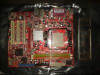 MS-7312 ver 1.0 K9MM-v Motherboard with back plate.