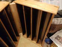 Pair of Pine CD racks. Each rack takes around 240 CD's