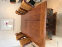 Gorgeous large oak dining table and 8 chairs for sale