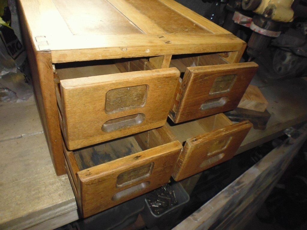 Old wooden filing cabernet Cleaned polished waxed ready to go. See my other items for sale.