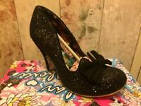 Irregular Choice Nick of Time 41/7.5 Black BNIB