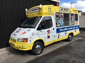Whitby Morrison Ford Transit Soft Ice Cream Van Carpigiani Icecream Machine - LWB - MOT'd