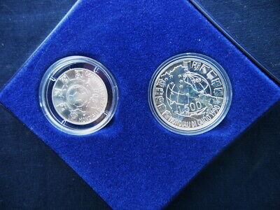 UNC SILVER Commemorative Coin ITALY 1000 LIRE 1995 PIETRO MASCAGNI KM# 185