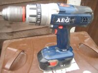 aeg 18v hammer drill used but works as it should