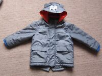 Blue Zoo Boys Coat. Aged 4-5 years (Height 110cm). Immaculate condition £10