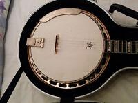Hummingbird five string handmade Banjo