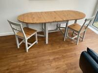 Ikea gamleby dining table 2 chairs