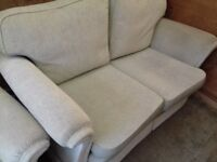 Stunning Mint Green Velour Hand Made sofa and Chair Very Good condition FREE delivery