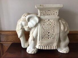 Large Ceramic Elephant Plant Stand