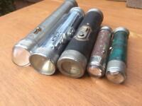 5 x vintage torches