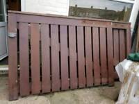 Heavy duty hard wood gates