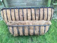 2 heavy cast iron window troughs with liners