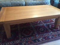 Coffee table, side table, and TV cabinet, matching set made from solid oak