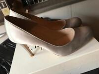 Size 7 heels - LK Bennett, colour silver/birch