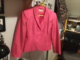 Long sleeved pink silk Kalico jacket