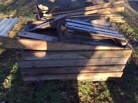 Tattie box full of firewood