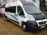 peugeot boxer lwb motorhome 2009 new conversion mot 2019 viewing recommended.