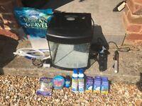 Aquastart 320 28L Tropical Fish Tank Aquarium (Filter + Heater + Gravel + more)