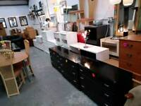 Black chests of drawers and other black furniture