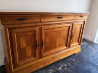 Solid wood sideboard also available a matching 6 chair dining table and a chest coffee table