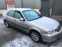 Rover 45 is 1.6 16v petrol x reg 2000! Mot may! Low miles 65k with history! 2x keys and fobs! £495!