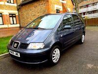 7 Seater , Seat Alhambra 1.9 TDI Diesel, same VW Sharan 1 Year MOT , DVD Player,Very Good Condition
