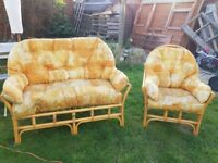 Two seater and single chair came furniture