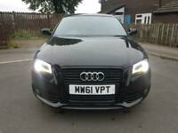 Audi A3 BLACK EDITION S LINE 5 DOOR 2012 DSG S TRONIC BLACK