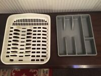 Plate rack and cutlery tray