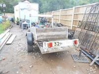 Trailer on 14 inch wheels, for sale again due to time waster