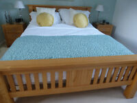 King size wooden bedframe