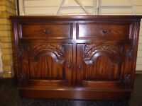 Jaycee Old Charm Hand Carved Oak Sideboard - TV Cabinet