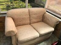 Two seater settee- worn - free