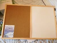Pinboard and white board 2 in 1 brand new