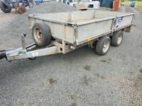 10x5.6 drop side ifor williams trailer with chequered floor
