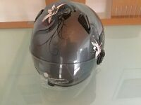Ladies Open face size small helmet with visor
