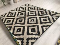 Black and white IKEA rug £25