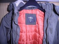 Child's Green/khaki quilt lined winter coat by H&M: age 8-9