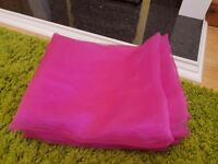 Pink Voile curtains x 2. Size 46 x 90 inch each curtain