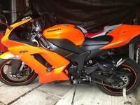 Kawasaki Ninja ZX6R P7f 599cc 2008 in Orange, Hpi clear. Delivery available