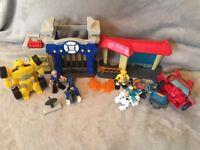 Transformers rescue bots playskool Heros bundle £30