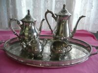 Silver Plated Tea Pot Set by M & R
